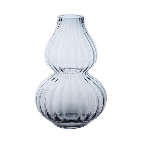 Dartington Crystal Gourd Small Midnight Vase