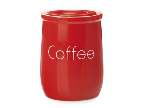 Maxwell and Williams Chef du Monde Red Coffee Canister 750ml