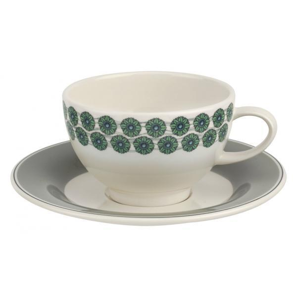 Portmeirion Westerly Grey Tea Cup And Saucer 0.24L