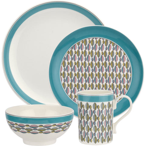 Portmeirion Westerly Turquoise 4 Piece Set