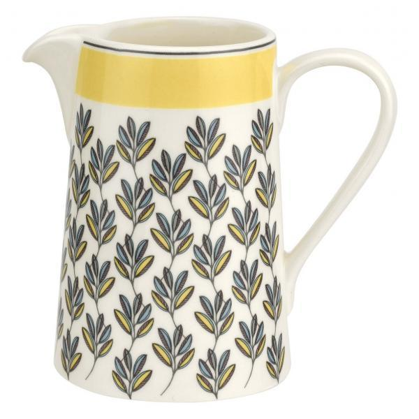 Portmeirion Westerly Yellow Cream Jug 10Oz 0.30L