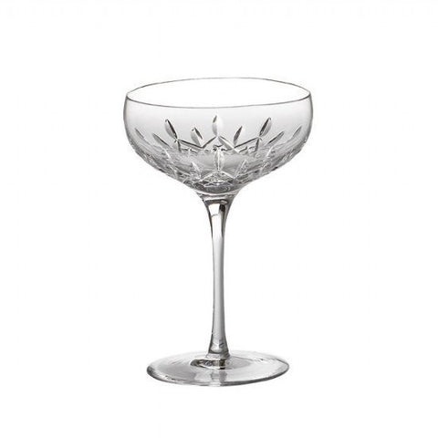 Waterford Crystal Lismore Essence Giftware Saucer Champagne Glass Pair