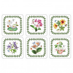 Portmeirion Exotic Botanic Garden Coasters 10.5cm By 10.5cm (Set Of 6)