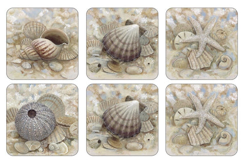 Pimpernel Beach Prize Coasters 10.5cm (Set of 6)