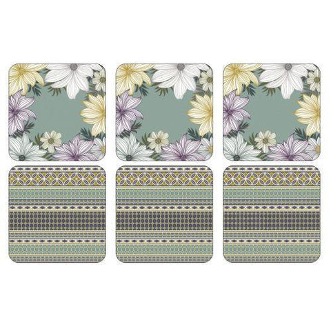 Pimpernel Atrium Coasters 10.5 by 10.5cm (Set of 6)