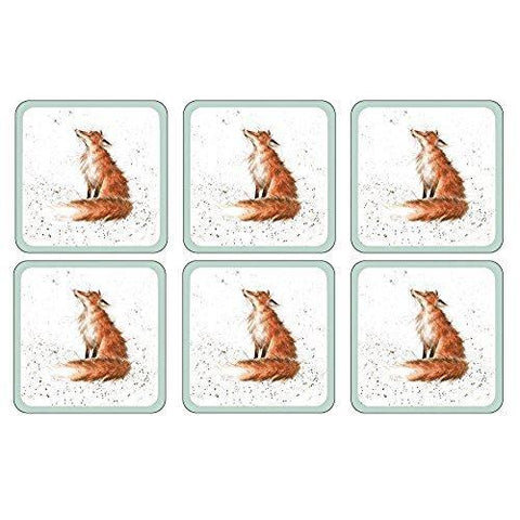 Royal Worcester Wrendale Foby Coaster 10.5cm By 10.5cm (Set Of 8)
