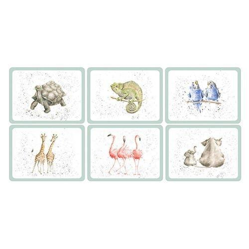 Royal Worcester Zoological Placemats 30.5cm By 23cm(Set Of 6)