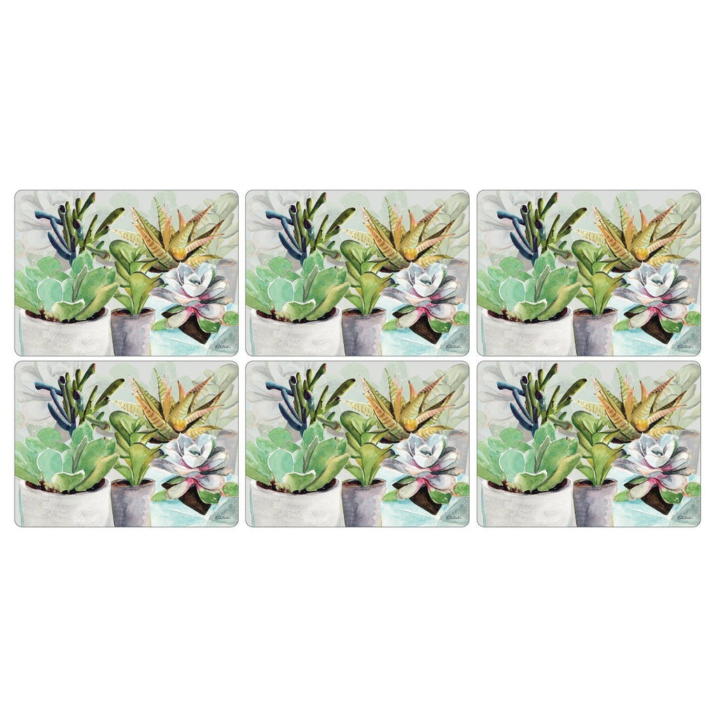 Pimpernel Succulents Placemats 30.5 by 23cm (Set of 6)