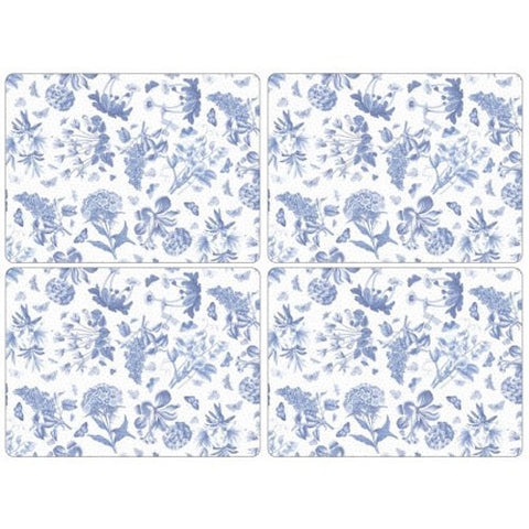 Portmeirion Botanic Blue Set of 4 Placemats 40.1cm by 29.8cm