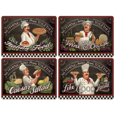 Pimpernel Chefs Special Placemats 40.1cm By 29.8cm (Set Of 4)