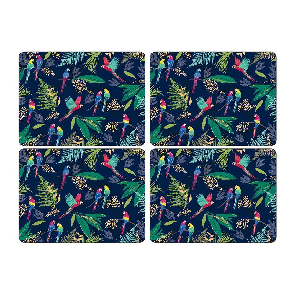 Portmeirion Sara Miller London Parrot Extra Large Placemats 40.1 by 29.8cm (Set of 4)