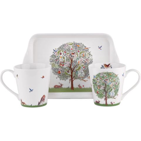 Portmeirion Enchanted Tree Mug and Tray Set 0.18L