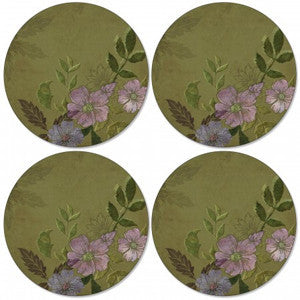 Pimpernel Autumn Green Round Placemats 31cm (Set Of 4)