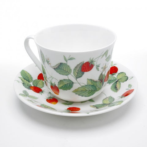 Roy Kirkham Alpine Strawberry Teacup and Saucer