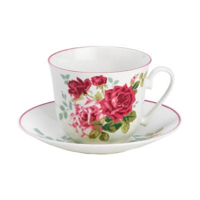 Roy Kirkham Alba Rose Teacup and Saucer