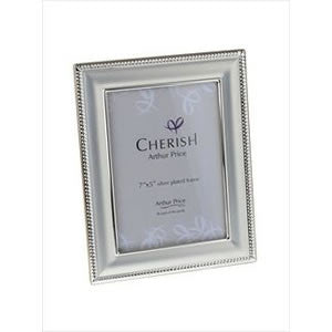 Arthur Price Cherish Bead Photo Frame 5 inch by 7 inch