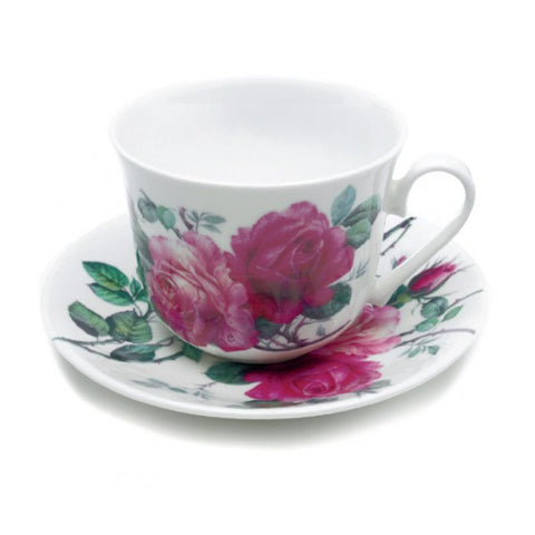 Roy Kirkham English Rose Breakfast Cup and Saucer (Set of 2)