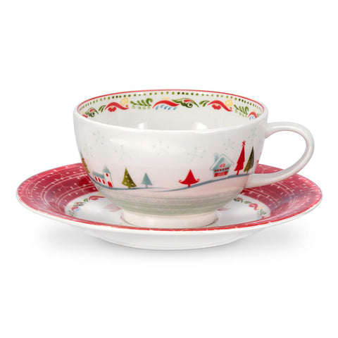 Portmeirion Christmas Wish Breakfast Cup and Saucer 0.30L