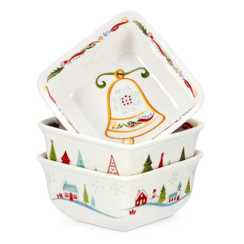 Portmeirion Christmas Wish Mini Dish 10cm (Set of 3)