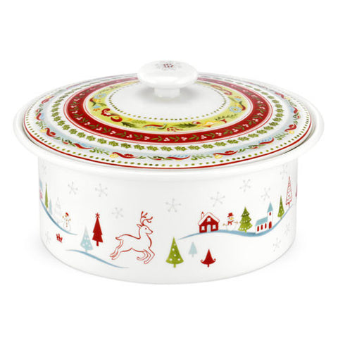 Portmeirion Christmas Wish Covered Veg Dish 1.7L