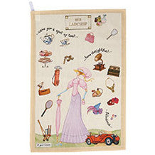 Churchill China At Your Leisure Her Ladyship Tea Towel