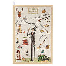 Churchill China At Your Leisure His Lordship Tea Towel