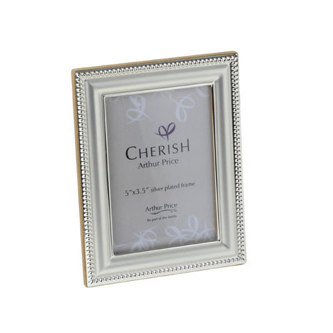 Arthur Price Cherish Bead Photo Frame 3.5 inch by 5 inch