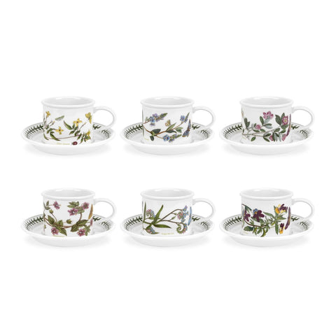 Portmeirion Botanic Garden Tea Cup And Saucer 1 7oz (Set of 6)