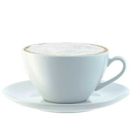 LSA Dine White Set of 4 Coffee Cups and Saucers 0.35L