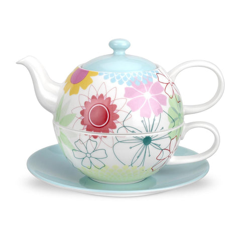 Portmeirion Crazy Daisy Tea for 1 Pot and Saucer 0.28L