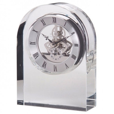 Dartington Crystal Clear Curve Clock 15cm