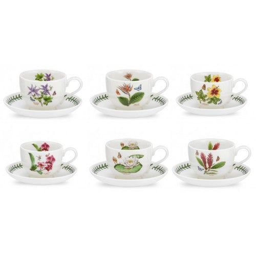 Portmeirion Exotic Botanic Garden Teacup and Saucer 0.20L (Set of 6)