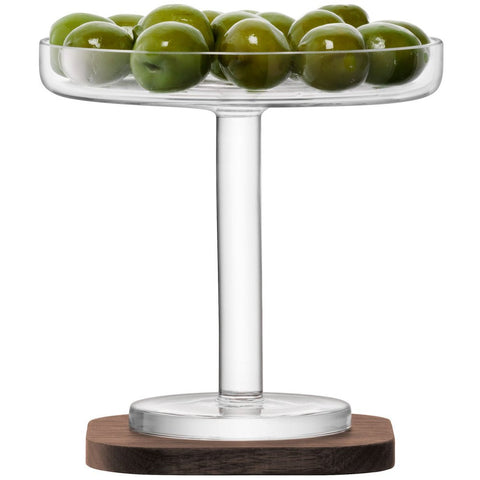 LSA City Olive Stand on Walnut Coaster 12cm