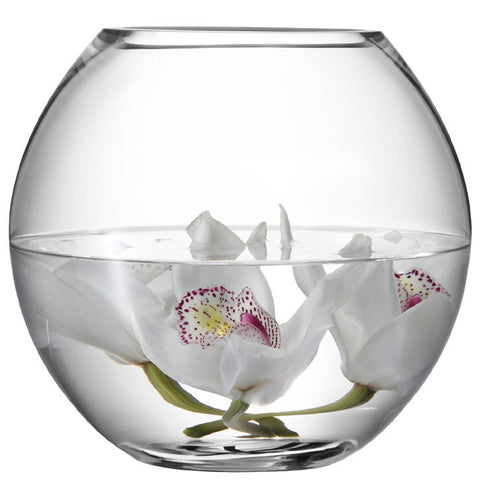 LSA Flower  Clear Round Bouquet Vase 22cm