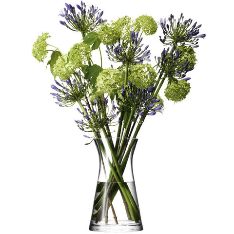 LSA Flower  Clear Mixed Bouquet Vase 29cm