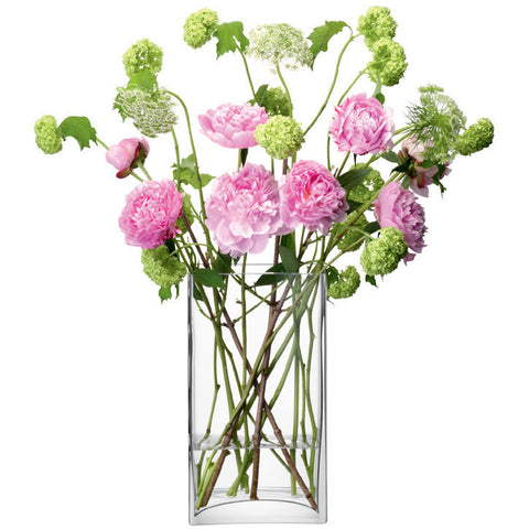 LSA Flower  Clear Rectangular Bunch Vase 32cm