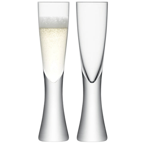 LSA Elina Clear Champagne Flute Pair 200ml