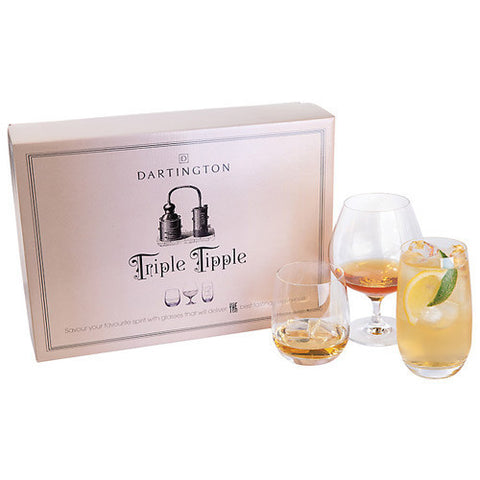 Dartington Crystal Giftware Triple Tipple Set
