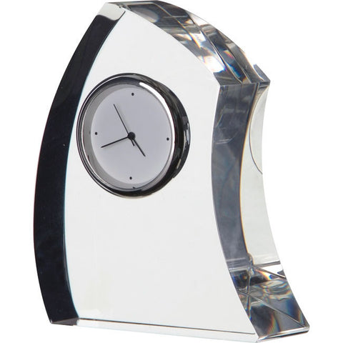 Dartington Crystal Small Crescent Clock 9cm