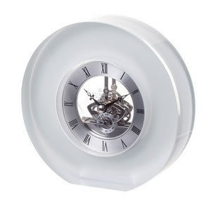 Dartington Crystal White Round Clock 15cm