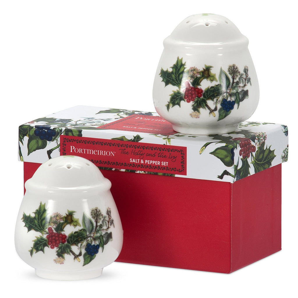 Portmeirion Holly And Ivy Salt and Pepper Set 7cm