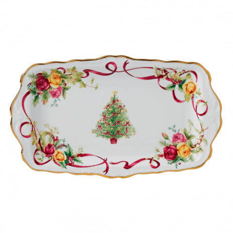 Royal Albert Old Country Roses Christmas Sandwich Tray 30cm