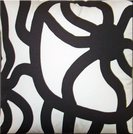 Marimekko Joonas Black Cushion Cover 50cm by 50cm (Cover Only)