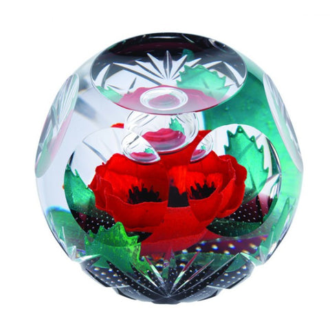Caithness Glass Limited Edition Always Remember Paperweight