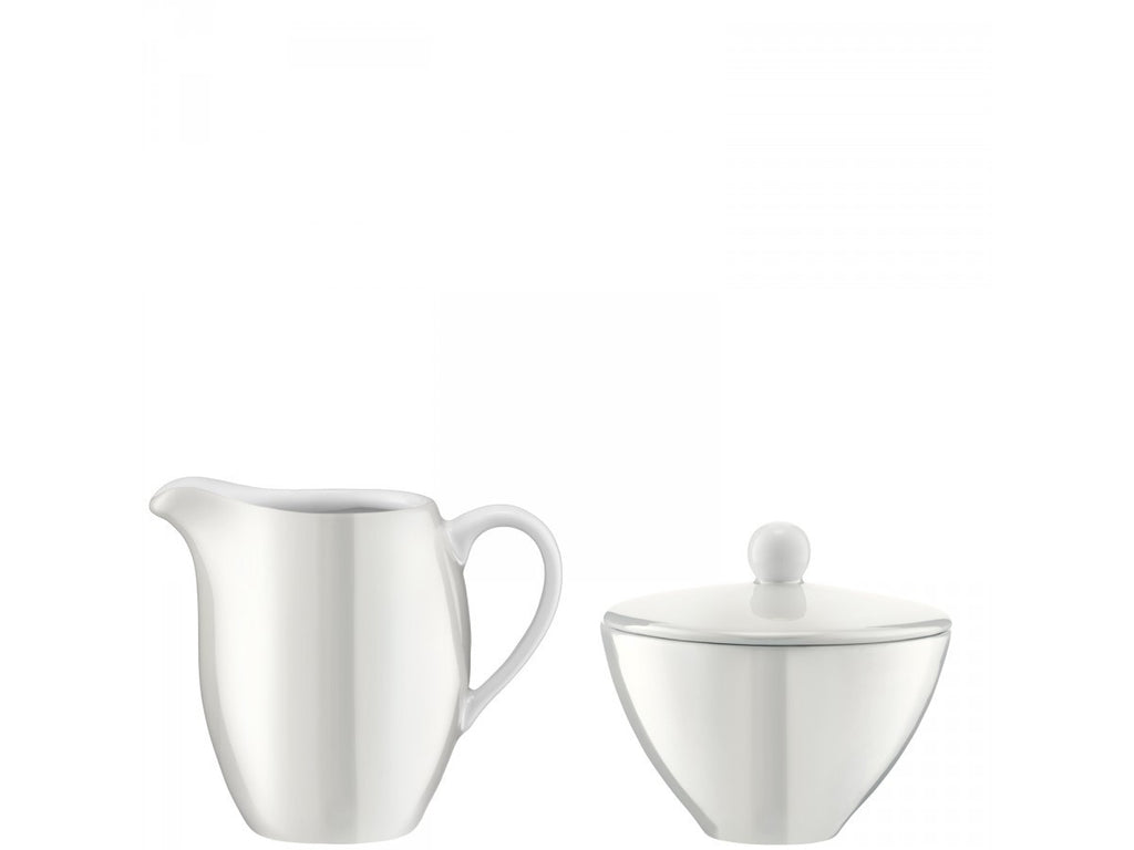 LSA Pearl Sugar Bowl and Creamer Set