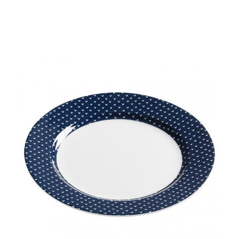 Maxwell and Williams Print Indigo Salad Plate 19cm