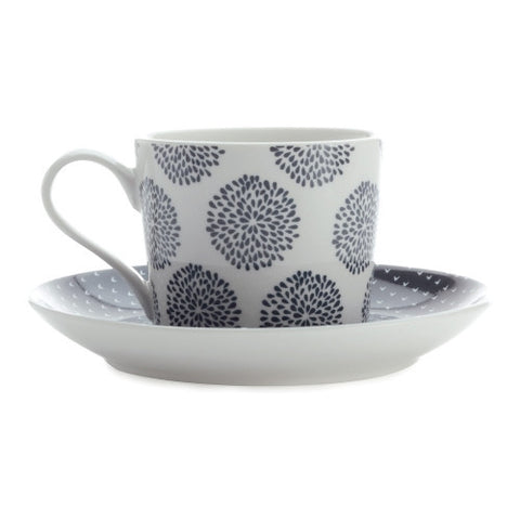 Maxwell and Williams Print Indigo Teacup and Saucer 0.20L