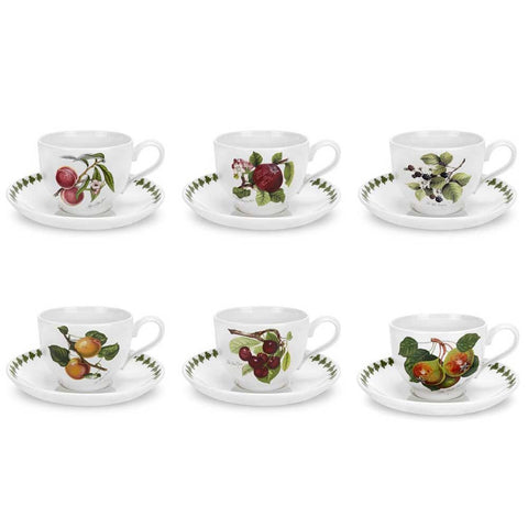 Portmeirion Pomona Breakfast Cup and Saucer 0.28L - Set of 6