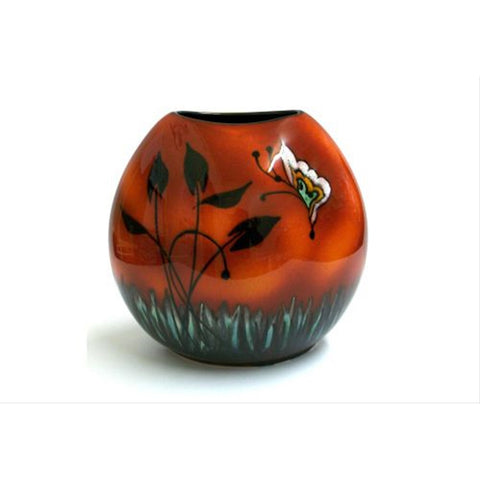 Poole Pottery Fantasy Purse Vase 26cm