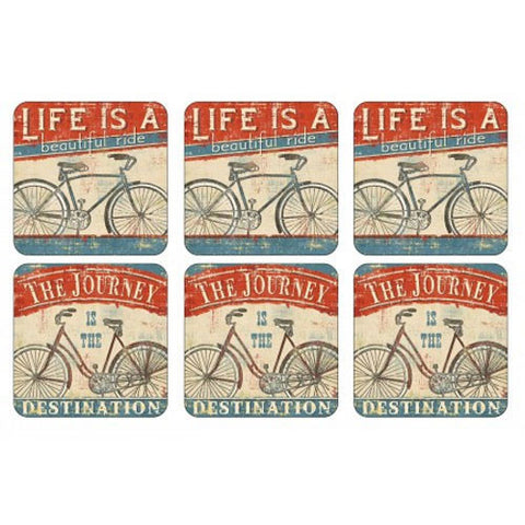 Pimpernel Beautiful Ride Coasters 10.5cm By 10.5cm (Set Of 6)